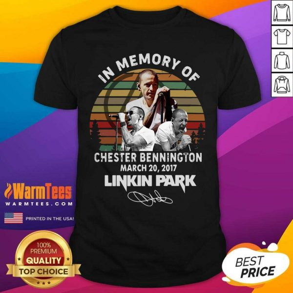 In Memory Of Chester Bennington March 20 2017 Linkin Park Signature Vintage Shirt - Design By Warmtees.com