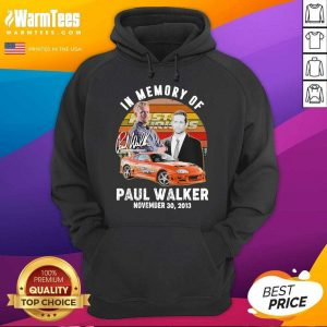 In Memory Of Fast And Furious Paul Walker November 30 2013 Signature Vintage Hoodie - Design By Warmtees.com