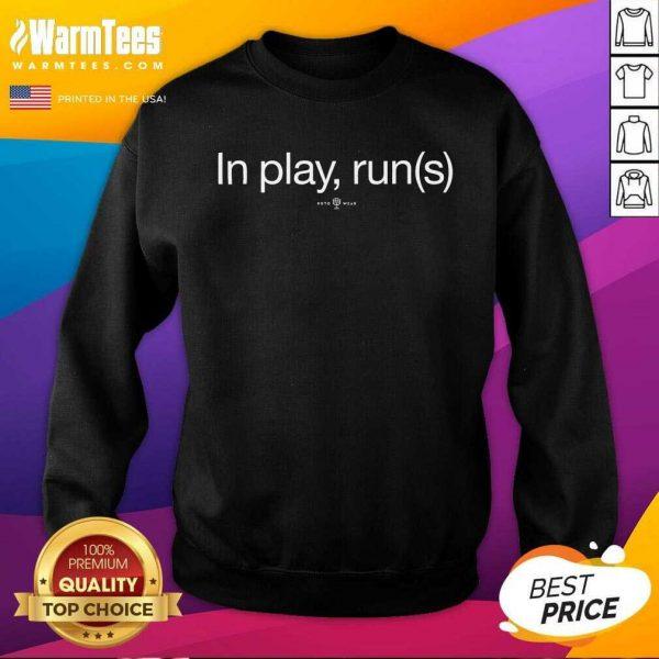 In Play Runs SweatShirt - Design By Warmtees.com