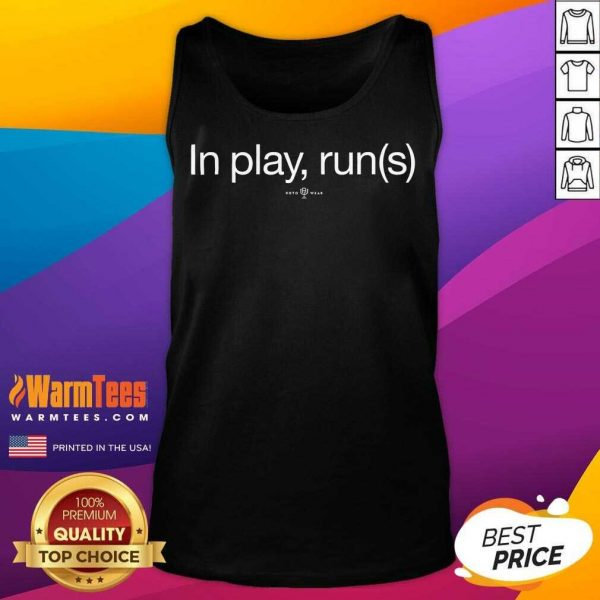 In Play Runs Tank Top - Design By Warmtees.com