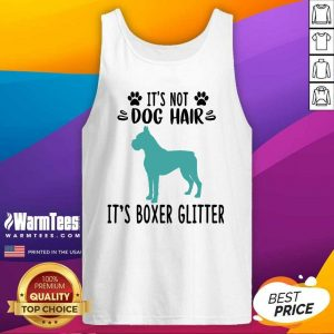 It's Not Dog Hair It's Boxer Glitter Tank Top - Design By Warmtees.com