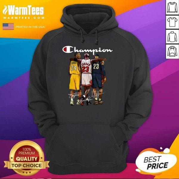 Kobe Bryant James Jordan LeBron James Mvp Champion Signatures Hoodie