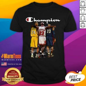 Kobe Bryant James Jordan LeBron James Mvp Champion Signatures Shirt