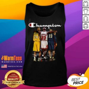 Kobe Bryant James Jordan LeBron James Mvp Champion Signatures Tank Top