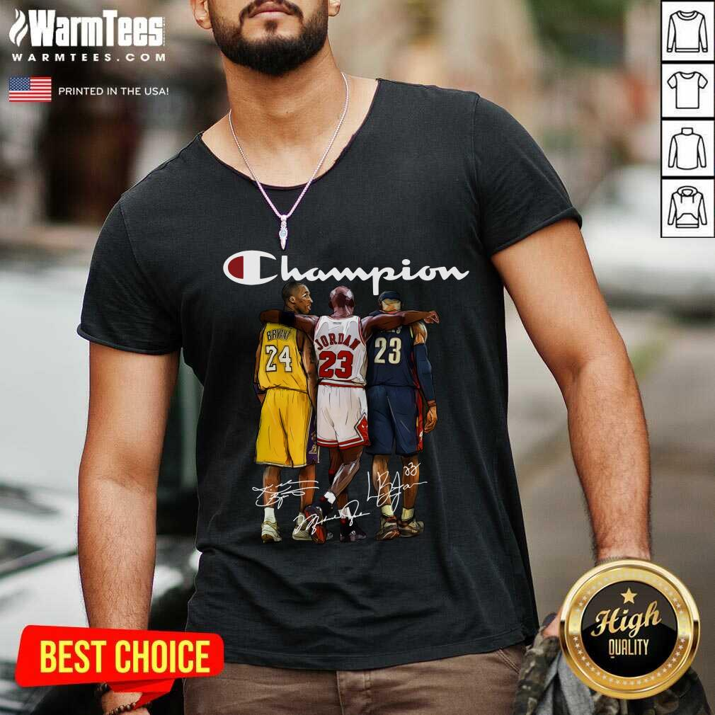 Kobe Bryant James Jordan LeBron James Mvp Champion Signatures V-neck