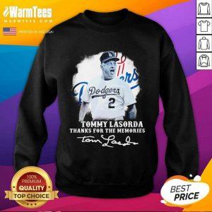 Los Angeles Dodgers Tommy Lasorda Thanks For The Memories Signatures SweatShirt