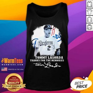 Los Angeles Dodgers Tommy Lasorda Thanks For The Memories Signatures Tank Top