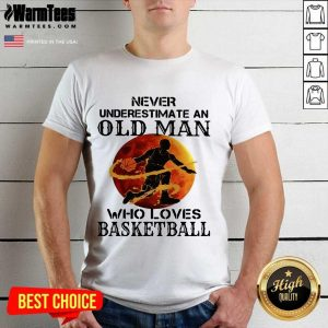 Never Underestimate An Old Man Who Loves Basketball Moonblood Shirt