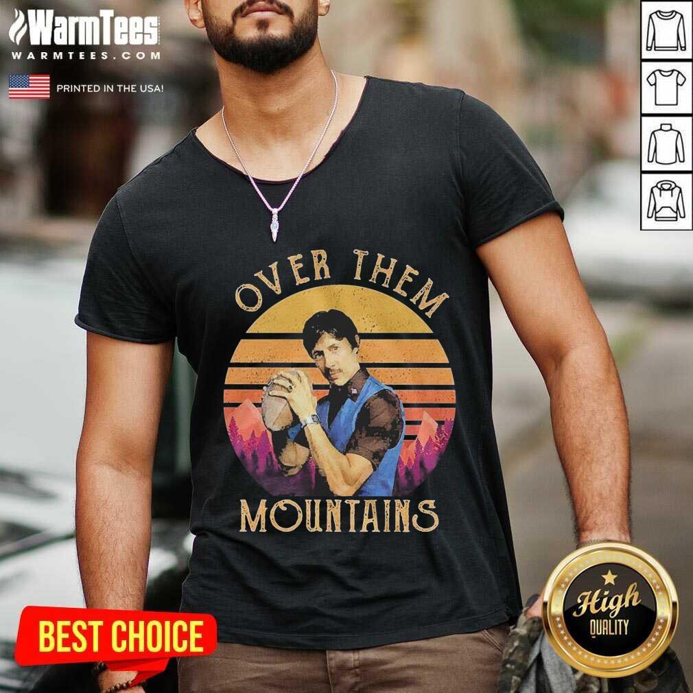 Over Them Mountains Vintage V-neck