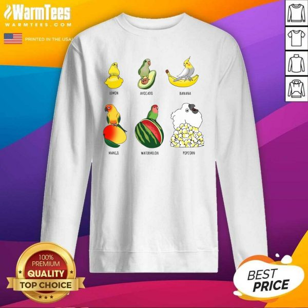 Parrots Lemon Avocado Banana Mango SweatShirt - Design By Warmtees.com