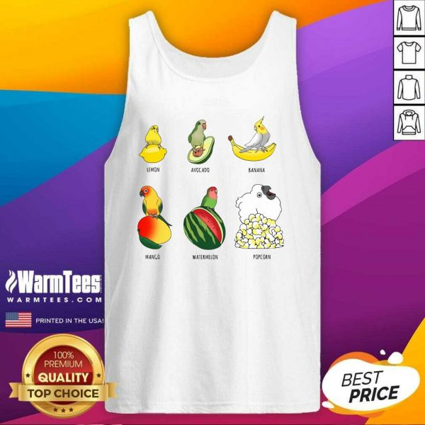 Parrots Lemon Avocado Banana Mango Tank Top - Design By Warmtees.com