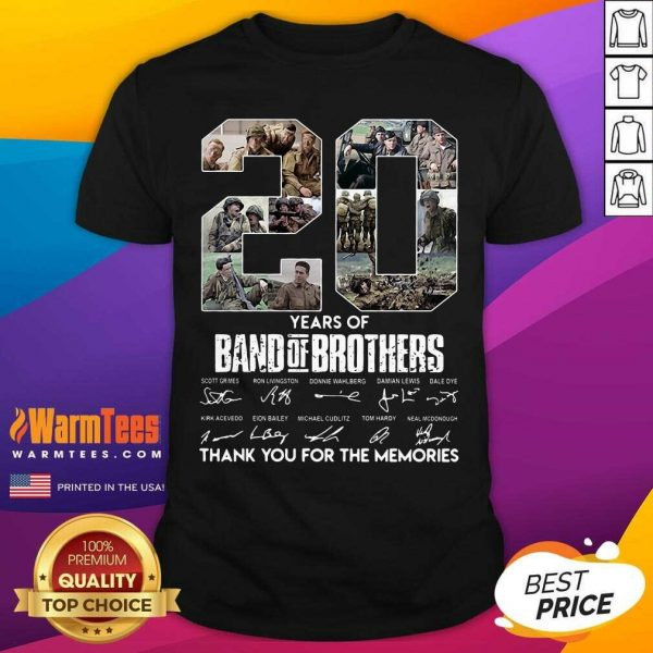20 Years Of Band Of Brothers Signatures Thank You For The Memories Shirt - Design By Warmtees.com