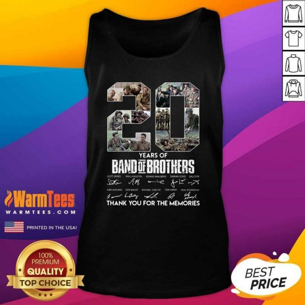 20 Years Of Band Of Brothers Signatures Thank You For The Memories Tank Top - Design By Warmtees.com