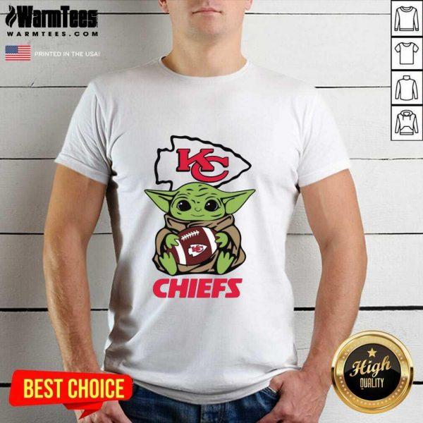 Baby Yoda Hug Kansas City Chiefs Football Shirt - Design By Warmtees.com