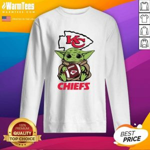 Baby Yoda Hug Kansas City Chiefs Football SweatShirt - Design By Warmtees.com