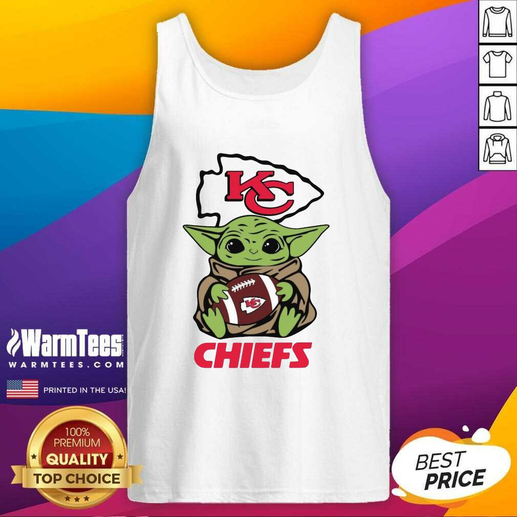 Baby Yoda Hug Kansas City Chiefs Football Tank Top  - Design By Warmtees.com