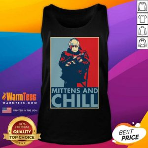 Bernie Sanders Mittens And Chill Tank Top