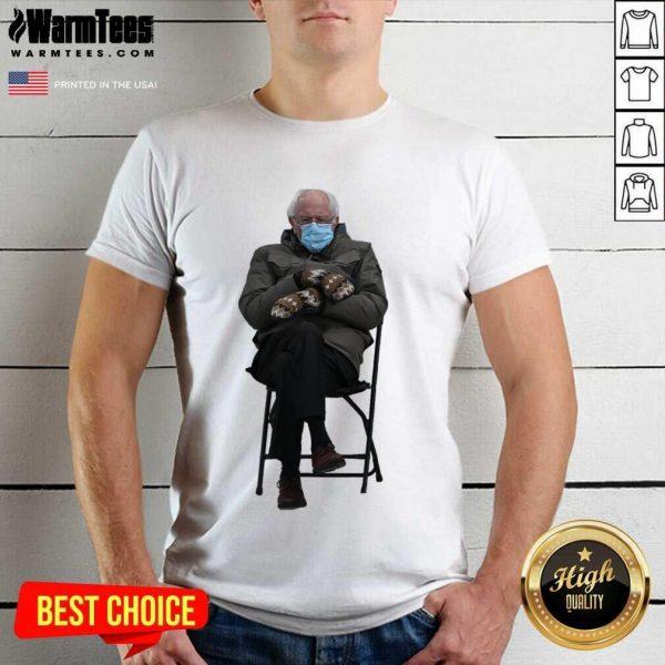 Bernie Sanders Mittens Sitting Inauguration Funny Meme Premium Classic Shirt