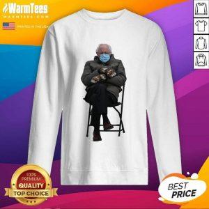 Bernie Sanders Mittens Sitting Inauguration Funny Meme Premium Classic SweatShirt