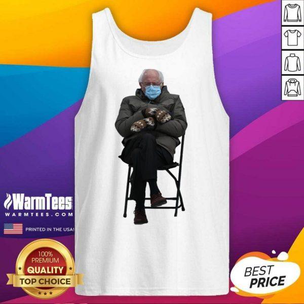 Bernie Sanders Mittens Sitting Inauguration Funny Meme Premium Classic Tank Top