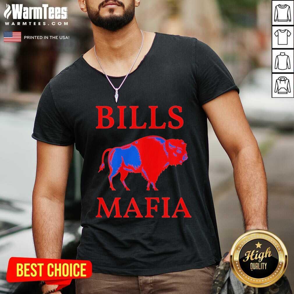 Bills Mafia 716 Buffalo New York BFLO WNY Sports Tee V-neck