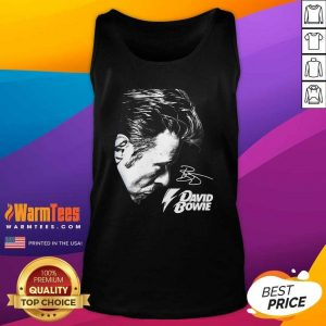 David Bowie 2021 Signature Tank Top - Design By Warmtees.com