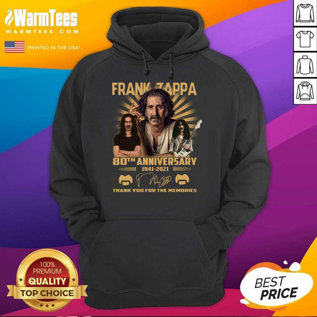 Frank Zappa 80th Anniversary Thank You For The Memories Signature Hoodie  - Design By Warmtees.com