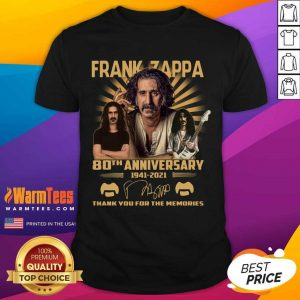 Frank Zappa 80th Anniversary Thank You For The Memories Signature Shirt - Design By Warmtees.com
