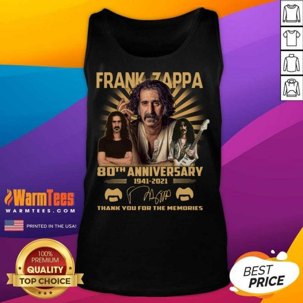 Hot Frank Zappa 80th Anniversary Thank You For The Memories Signature Tank Top - Design By Warmtees.com