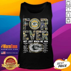 Green Bay Packers Forever Not Just When We Win Signatures Tank Top