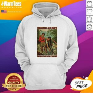 Husband And Wife Fishing Partners For Life Hoodie - Design By Warmtees.com