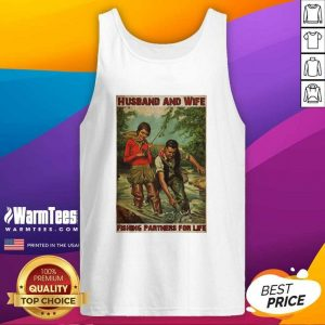 Husband And Wife Fishing Partners For Life Tank Top - Design By Warmtees.com