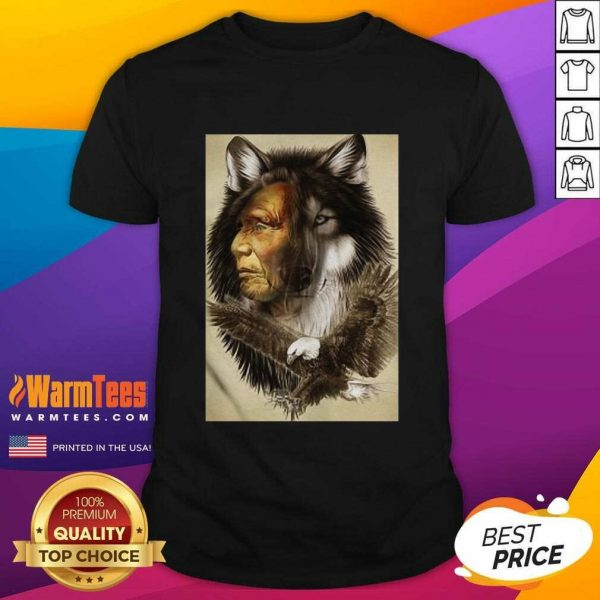 Native American Indian Wolf Eagle Shirt - Design By Warmtees.com
