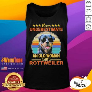 Never Underestimate An Old Woman With A Rottweiler Vintage Tank Top