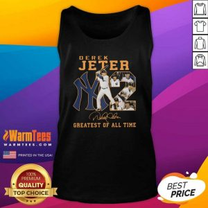 NY2 Derek Jeter Greatest Of All Time Signature Tank Top - Design By Warmtees.com