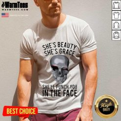 She's Beauty She's Grace Shell Punch You In The Face Gift V-neck