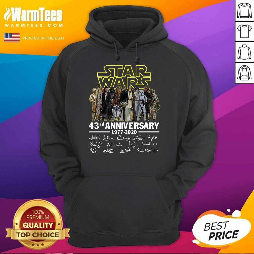 Star Wars 43rd Anniversary Thank You For The Memories Signatures Hoodie