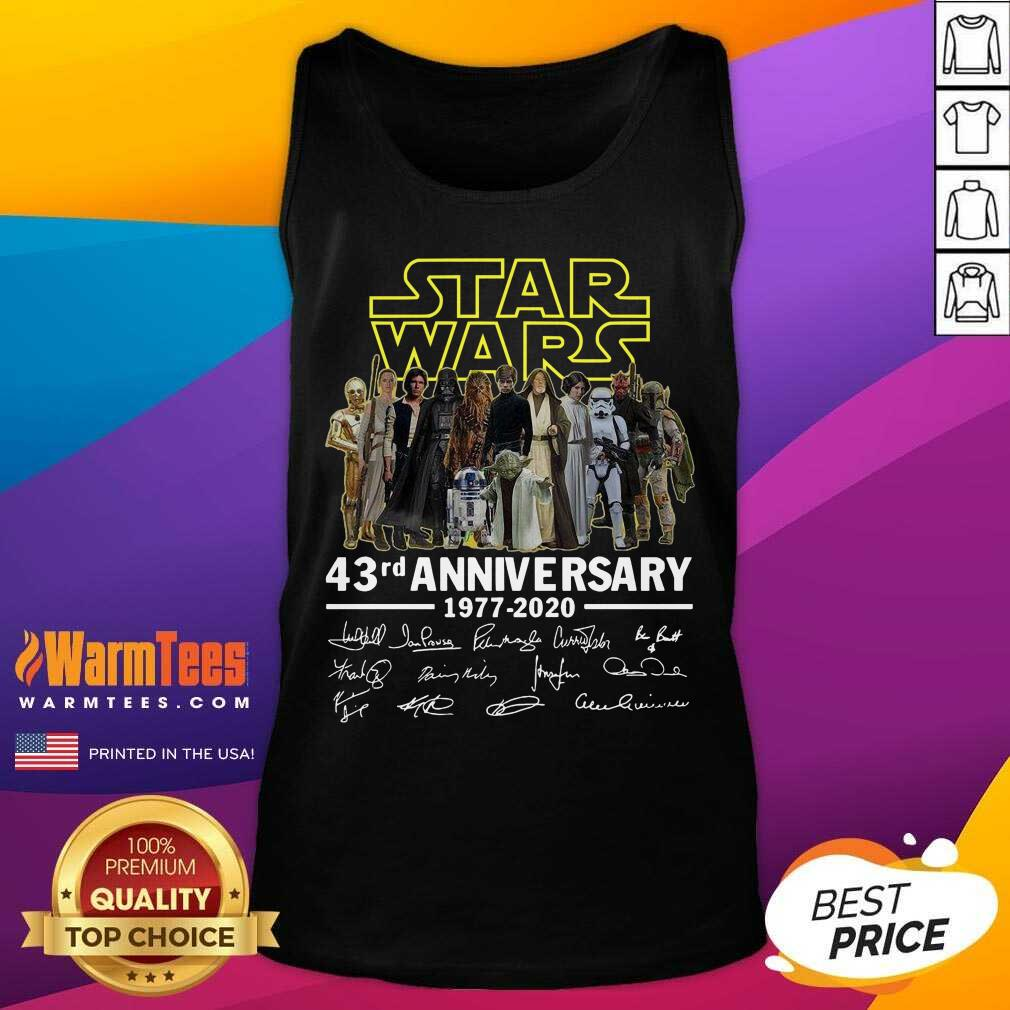 Star Wars 43rd Anniversary Thank You For The Memories Signatures Tank Top