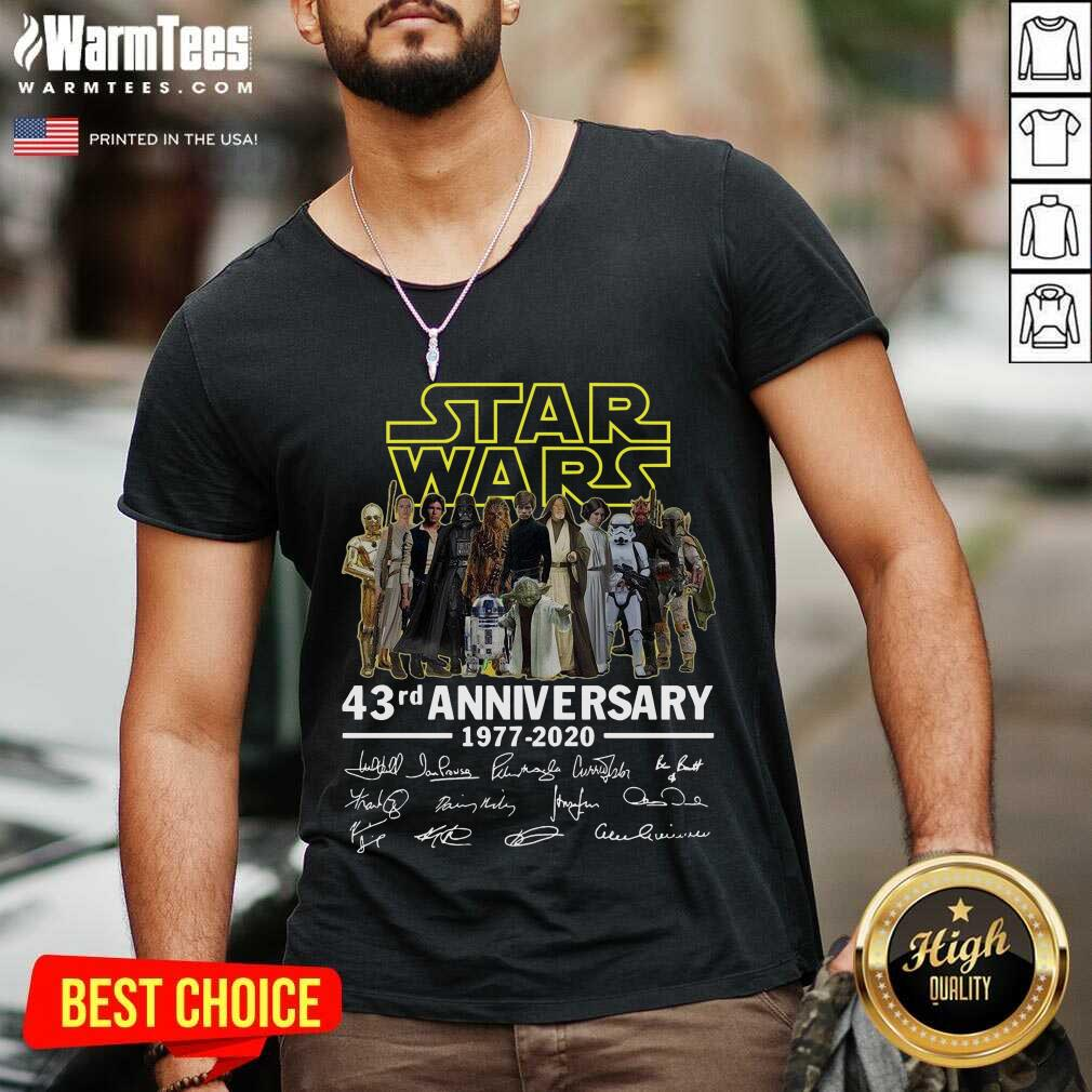 Star Wars 43rd Anniversary Thank You For The Memories Signatures V-neck