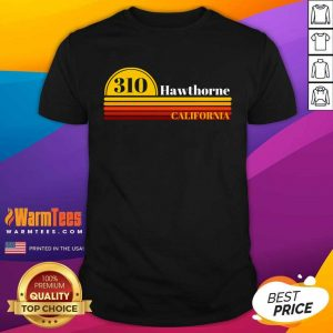 310 Hawthorne California Vintage Sunset With Area Code Shirt - Design By Warmtees.com