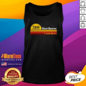 310 Hawthorne California Vintage Sunset With Area Code Tank Top - Design By Warmtees.com