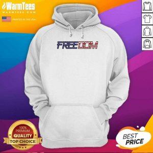American Flag Patriotic Freedom Hoodie - Design By Warmtees.com