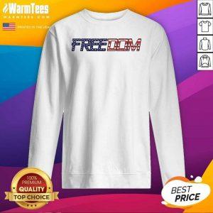 American Flag Patriotic Freedom SweatShirt - Design By Warmtees.com