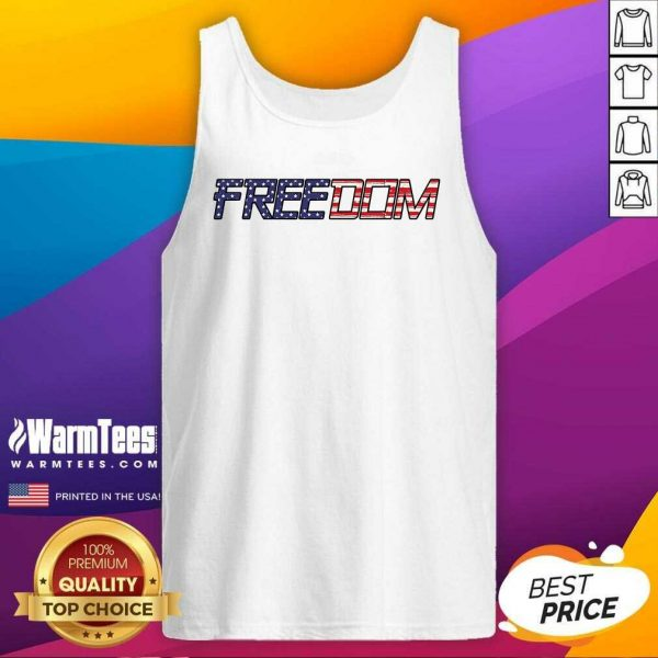 American Flag Patriotic Freedom Tank Top - Design By Warmtees.com