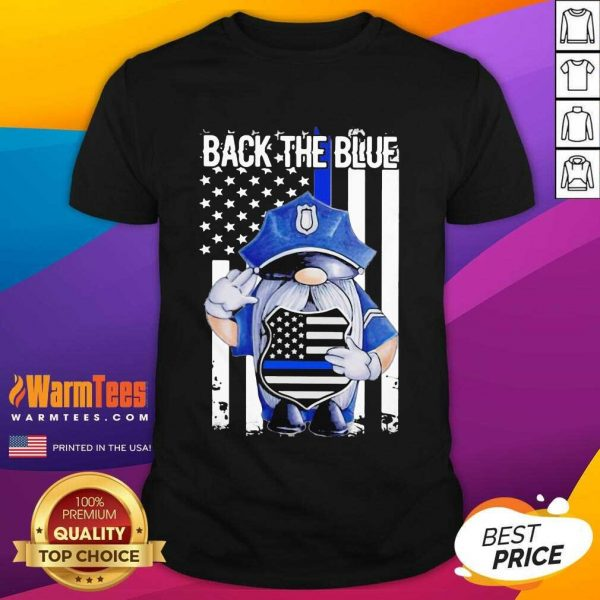 Back The Blue Drawf American Flag Shirt