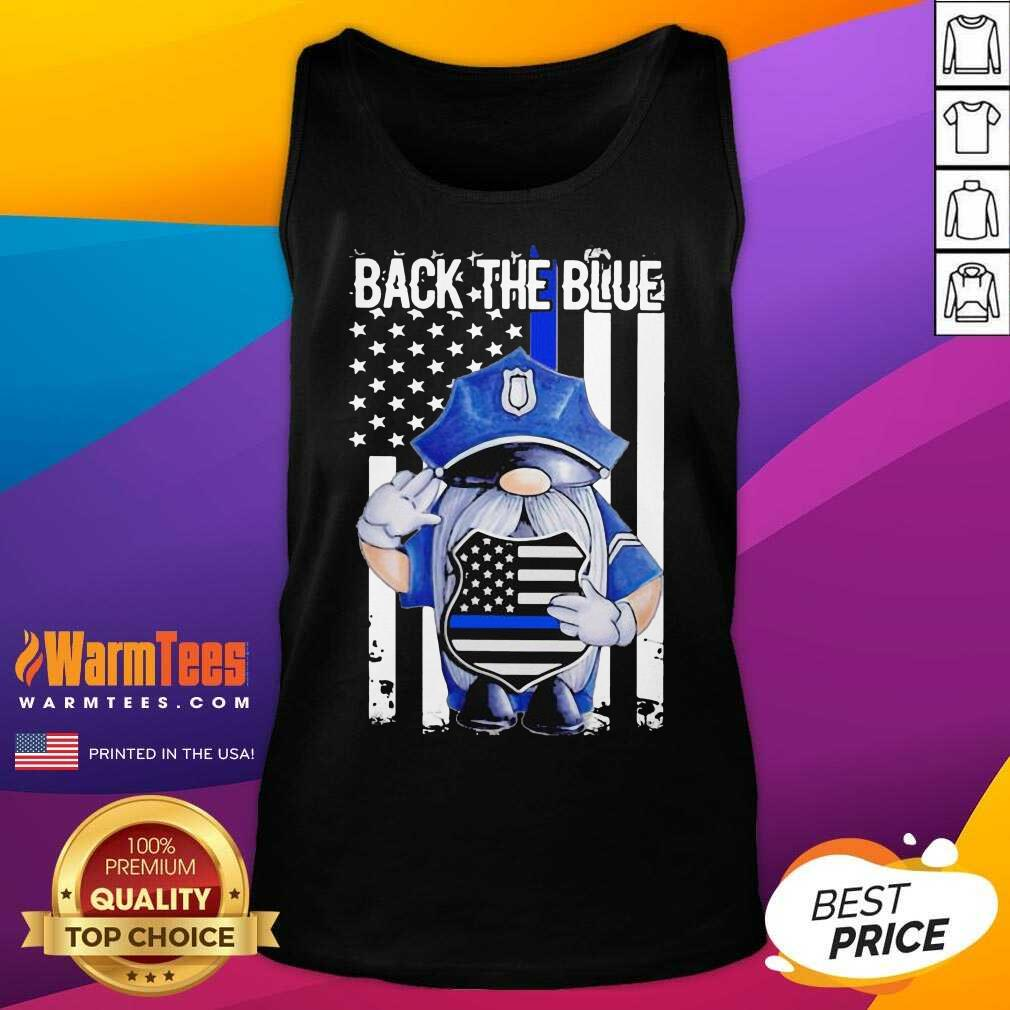 Back The Blue Drawf American Flag Tank Top