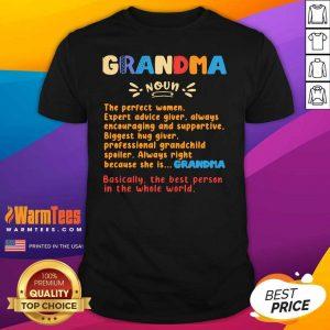 Definition Of A Grandma Ladies Shirt