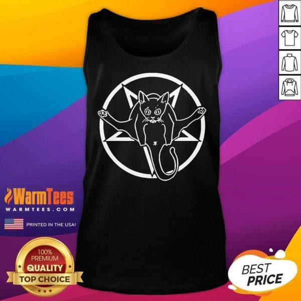 Grimytee Hail Catan Cat Satan Devil Sign By Finja Tank Top