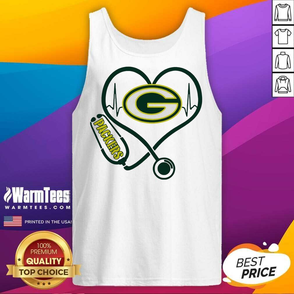 Heartbeat Nurse Green Bay Packers Tank Top