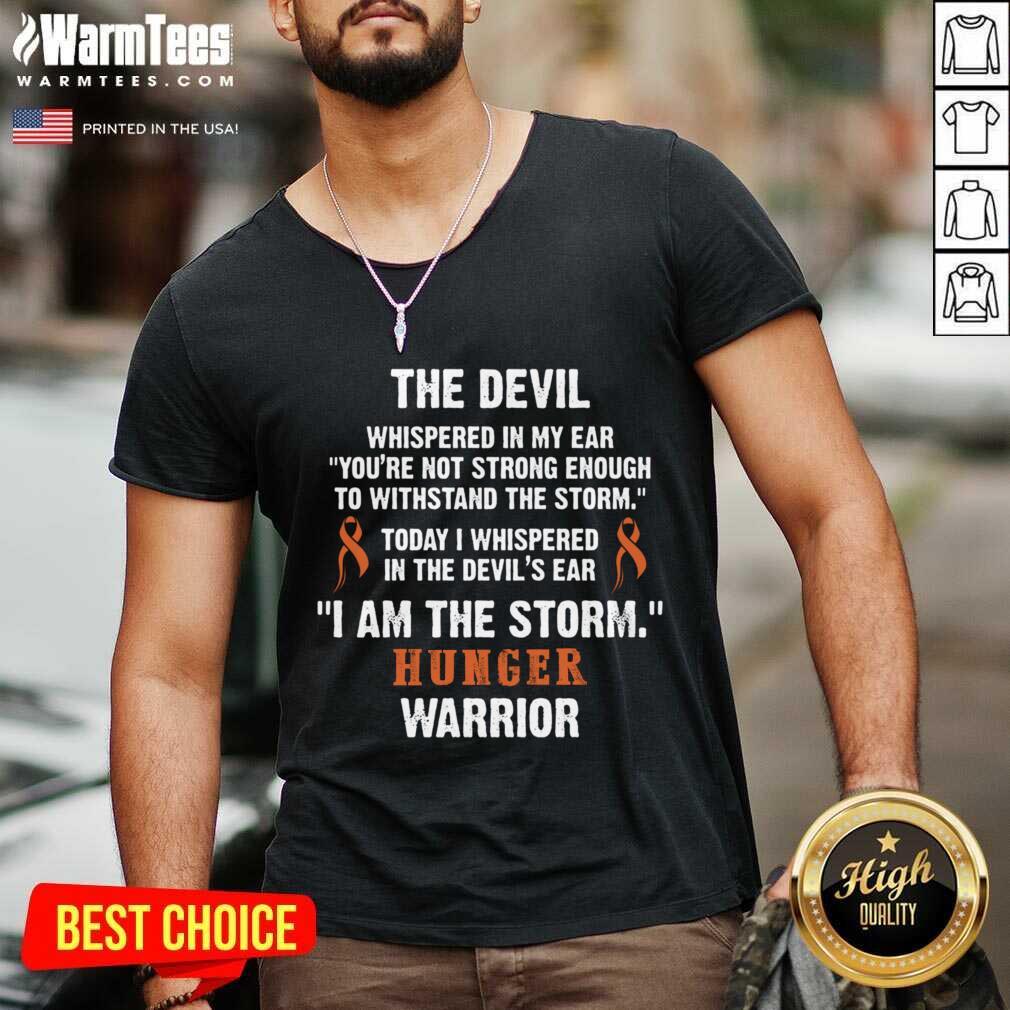 Hunger Disease Warrior I Am The Storm Hunger Disease V-neck